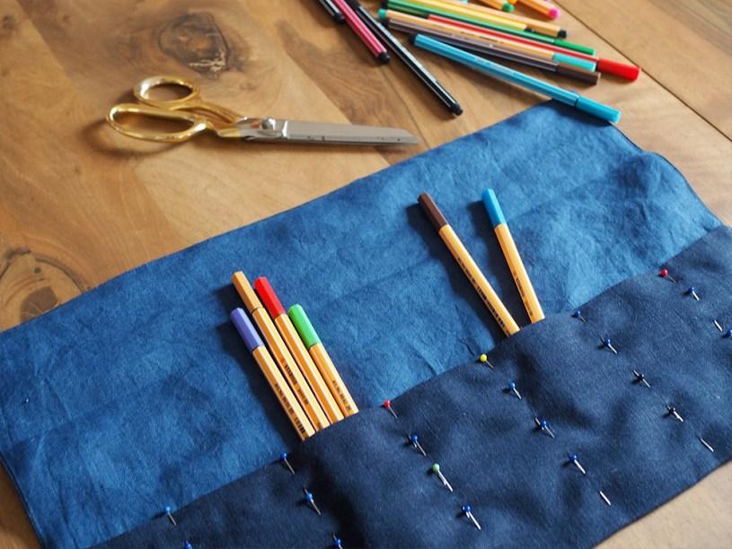 DIY Roll-up Pencil Case Scrap Busting Project