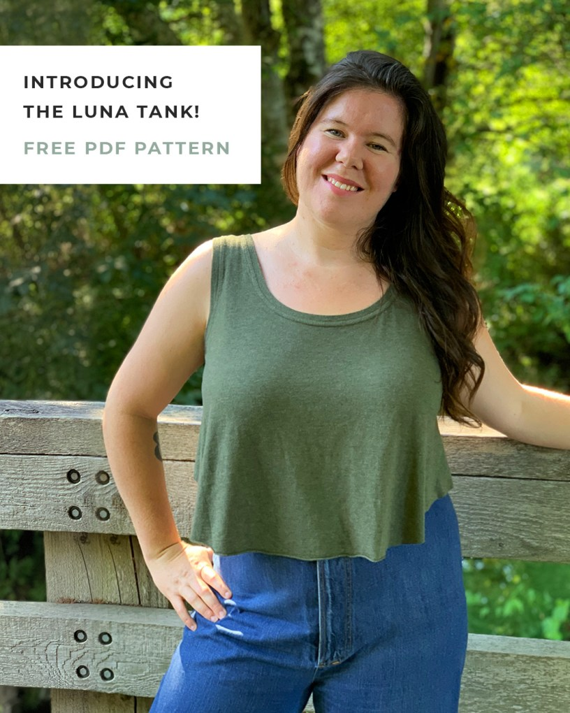 Luna Tank Sewing Pattern by Helen's Closet