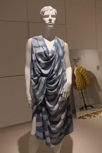 'Groundswell' Denise Green - Indigo dyed silk with batik resist