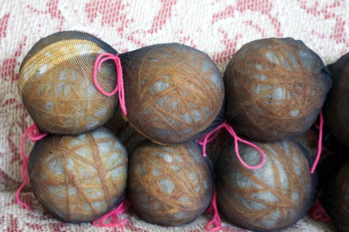 Wool Balls prepped for dryer