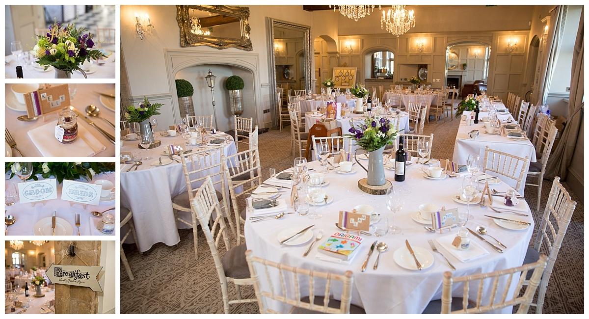 Weston Hall Wedding Breakfast
