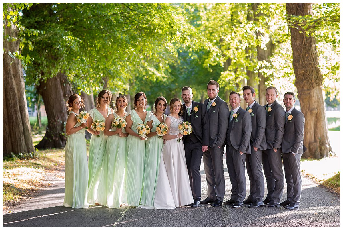 Bridal Party Photograph at Mottram Hall