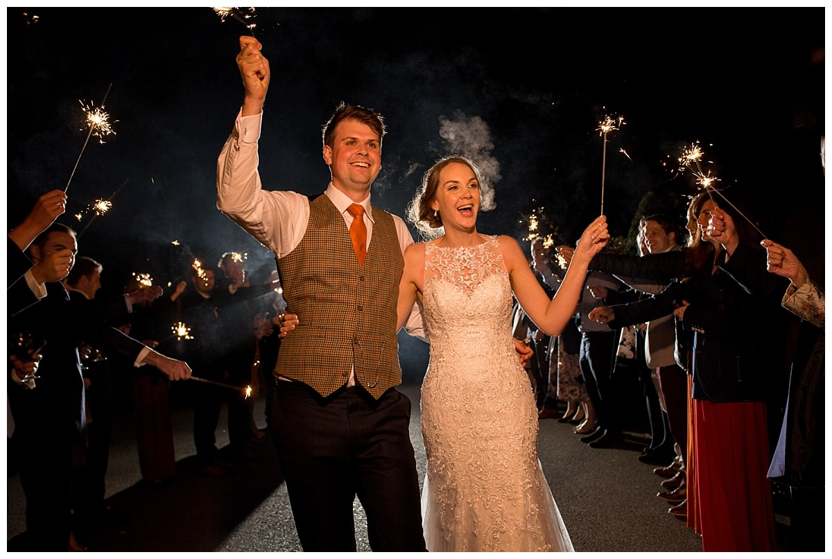 Sparklers at Sandhole Oak Barn