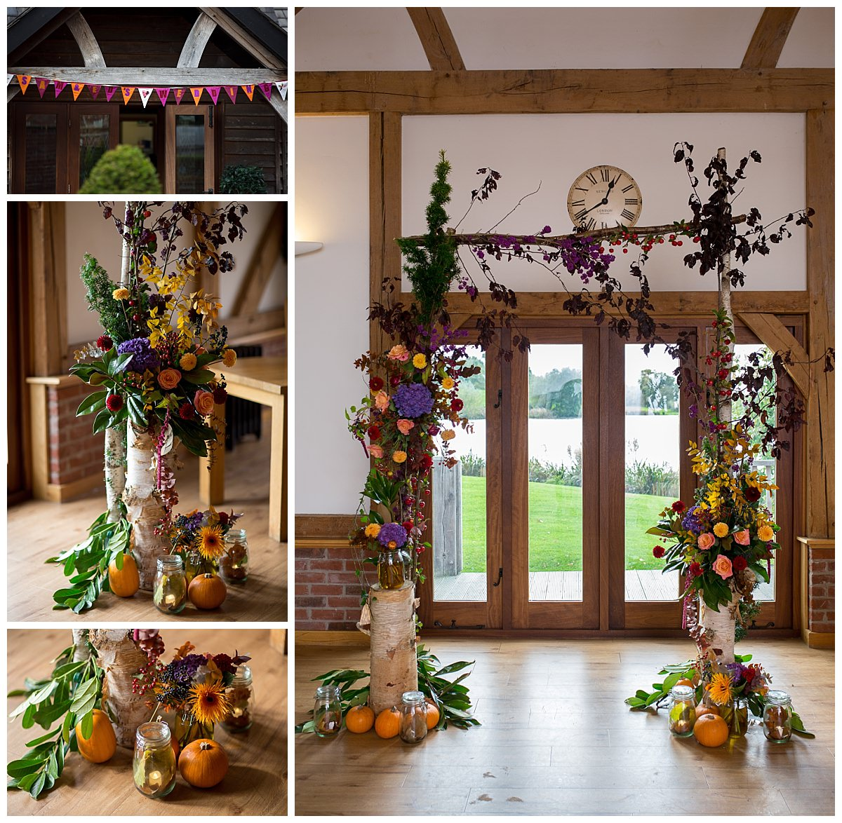 Sandhole Oak Barn Autumn Wedding