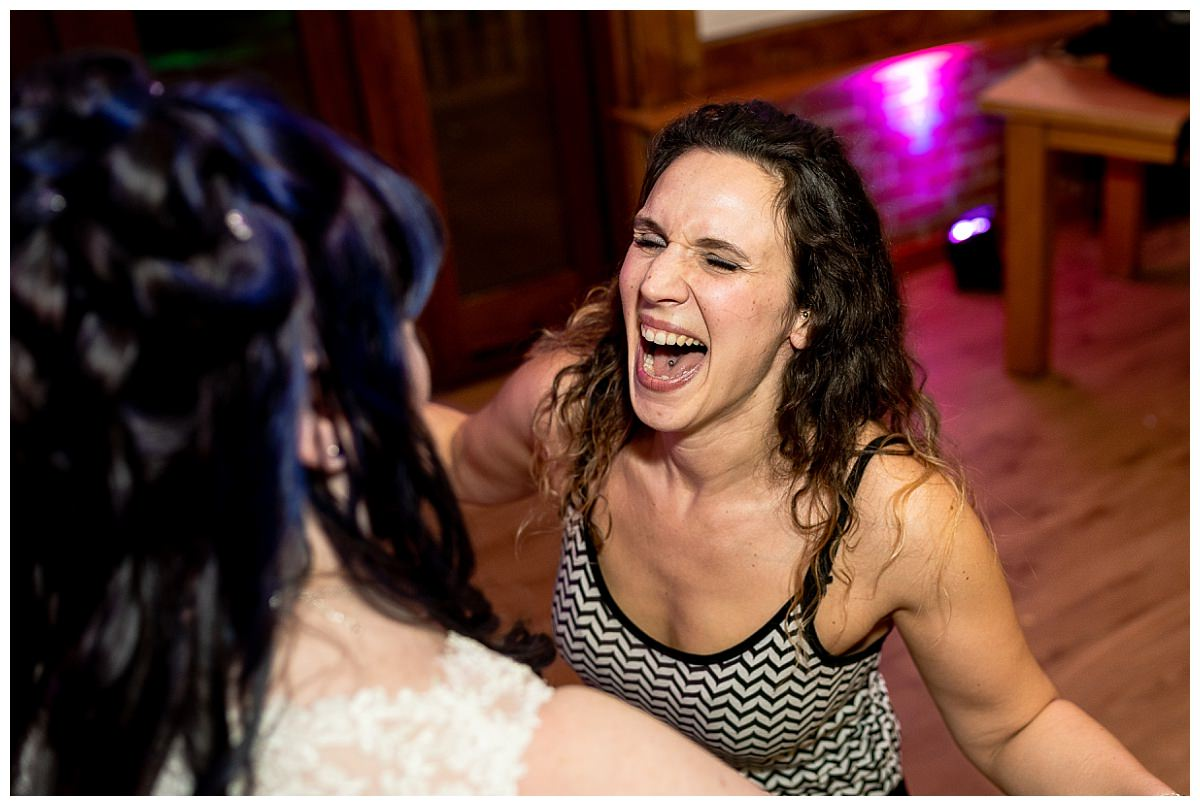 Dancing at Sandhole Oak Barn Wedding