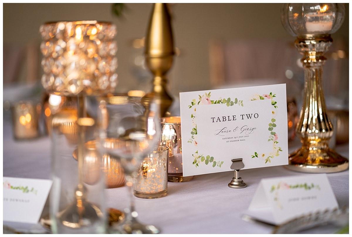 Standon Hall Wedding Breakfast