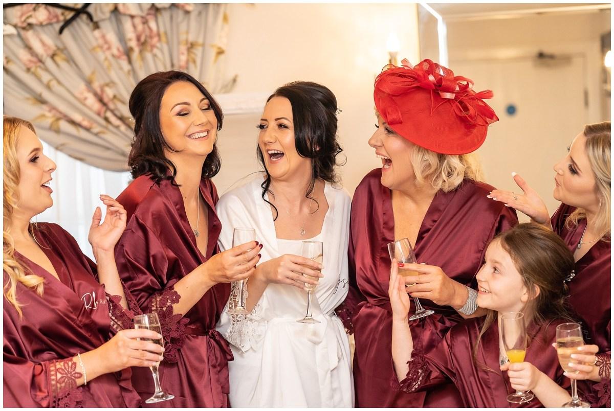 bridesmaids at sandhole oak barn