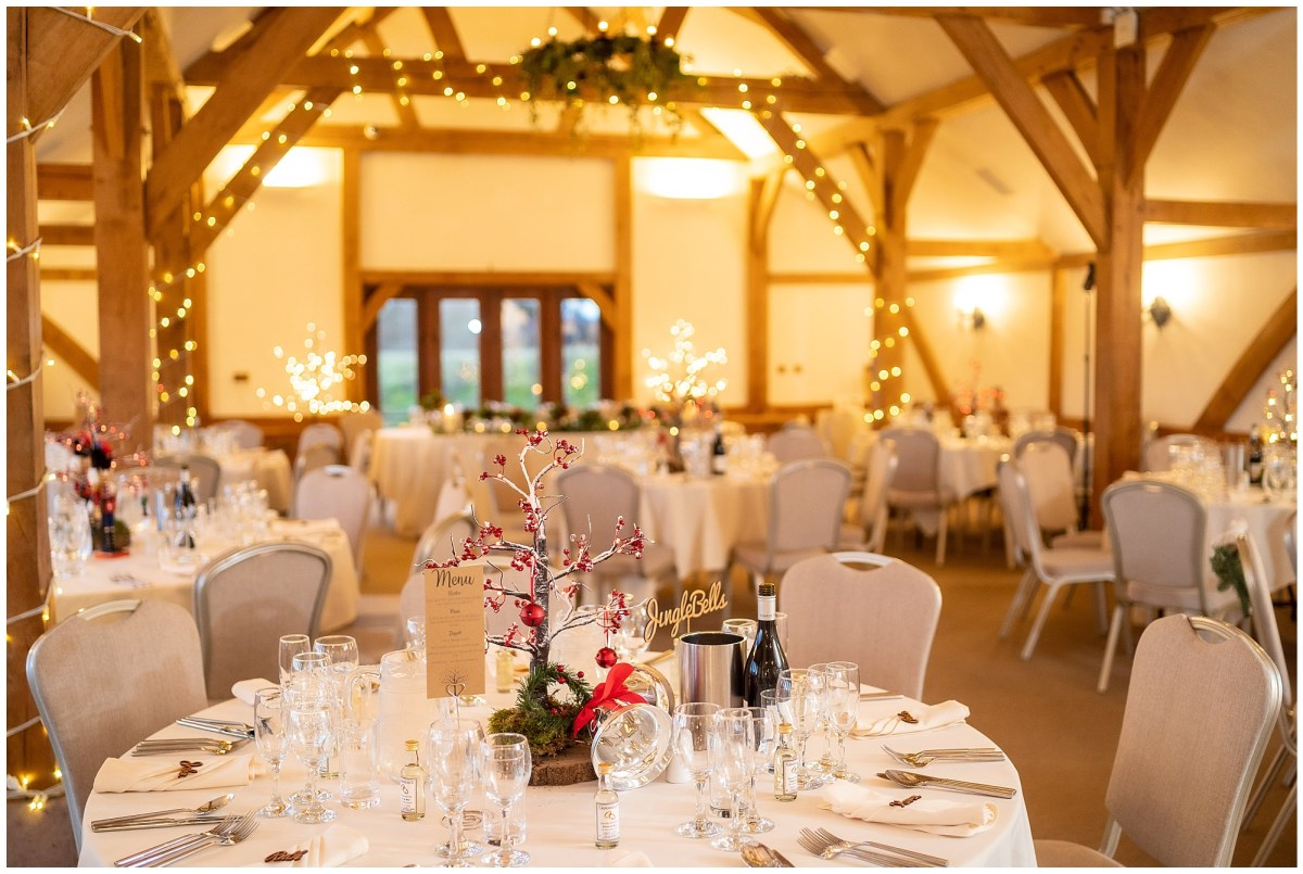 Winter wedding at Sandhole Oak Barn