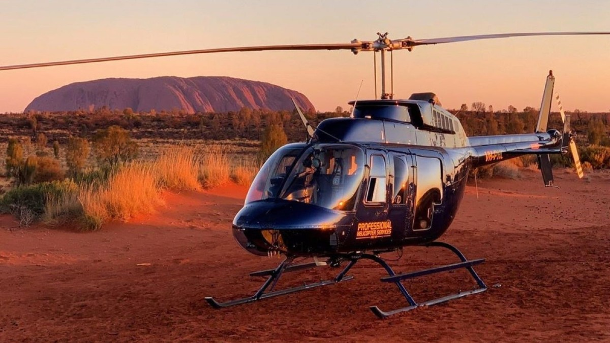 Helicopter tour of Uluru