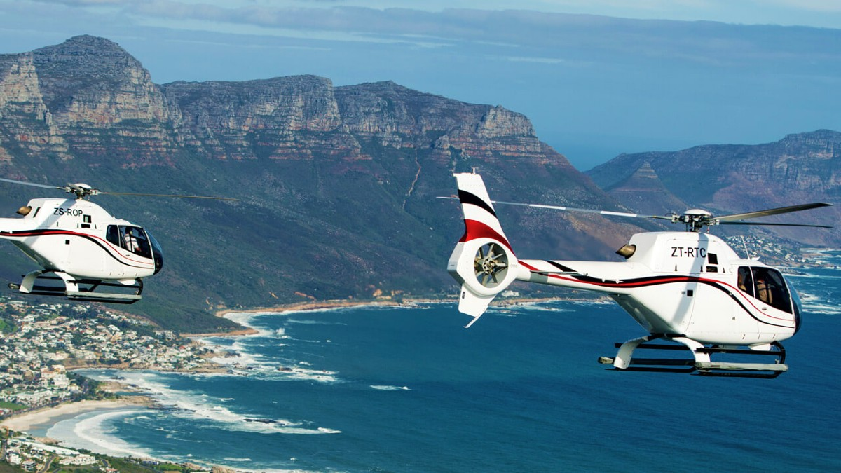 Helicopter tours in Cape Town