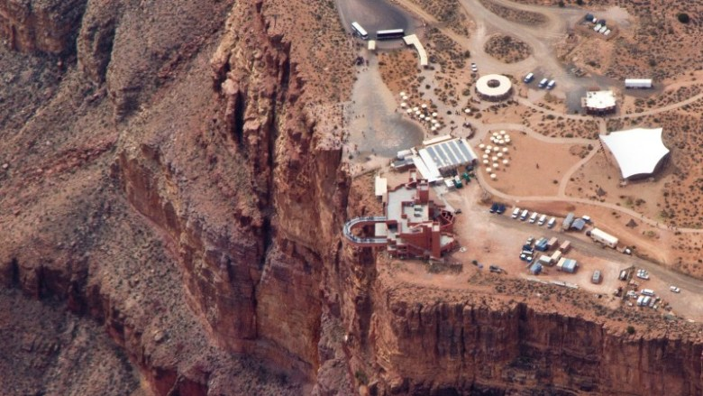 Grand Canyon Skywalk's aerial view