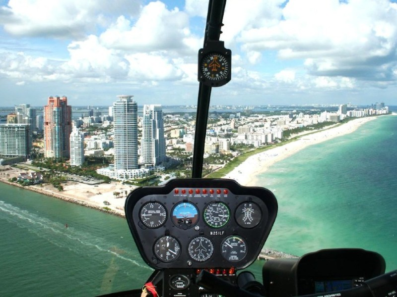 Helicopter tours in Miami