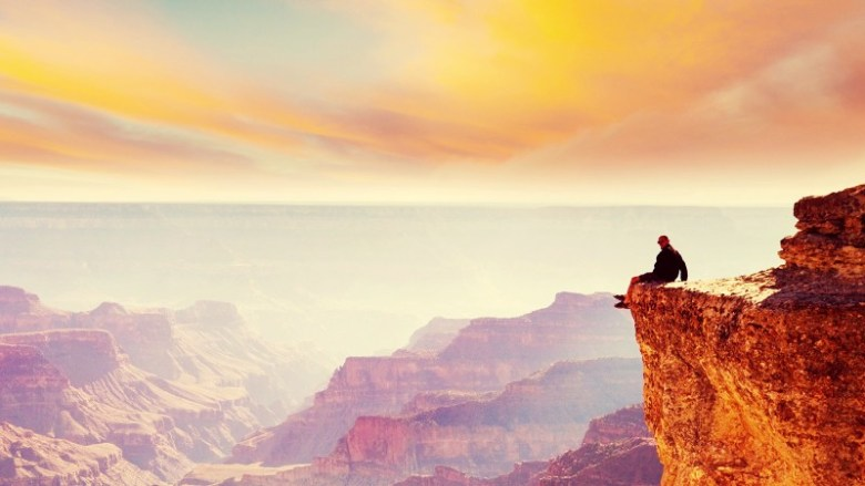 Watching sunset at Grand Canyon