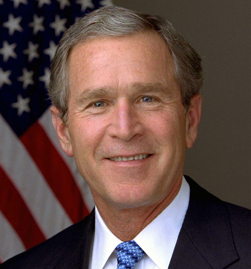 George W Bush starting his second term in office