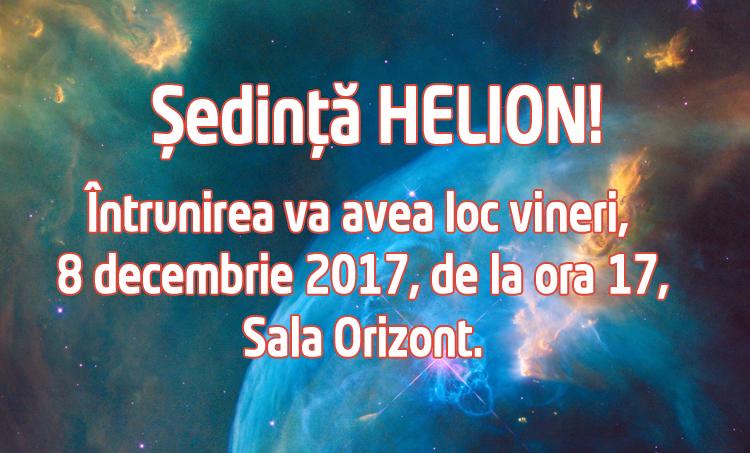 Sedinta Helion 8 decembrie 2017