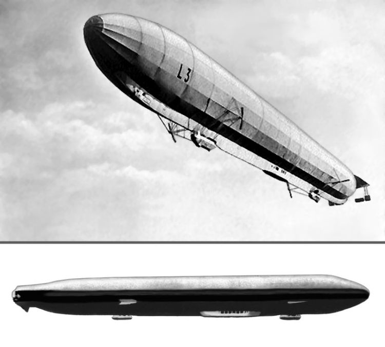 Zeppelinele germane din Primul Război Mondial