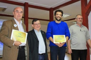 "Cristian Tamaș (stânga) la Premiile ""Ion Hobana"" ediția 2013 (foto Ionuț Bănuță)"