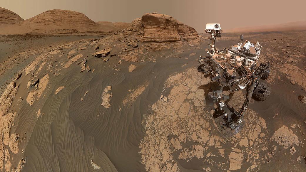 NASA's Curiosity rover takes a selfie on Mars.