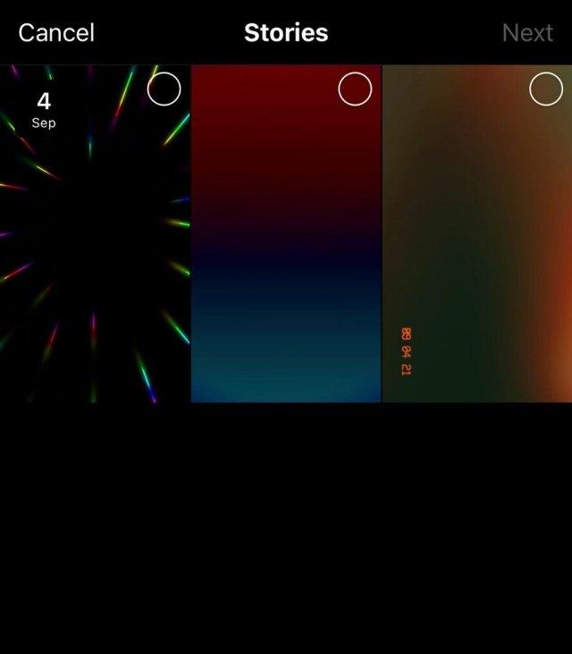 The Highlight selection screen