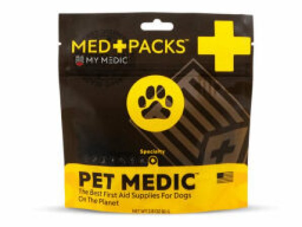 a yellow and black package of pet packs