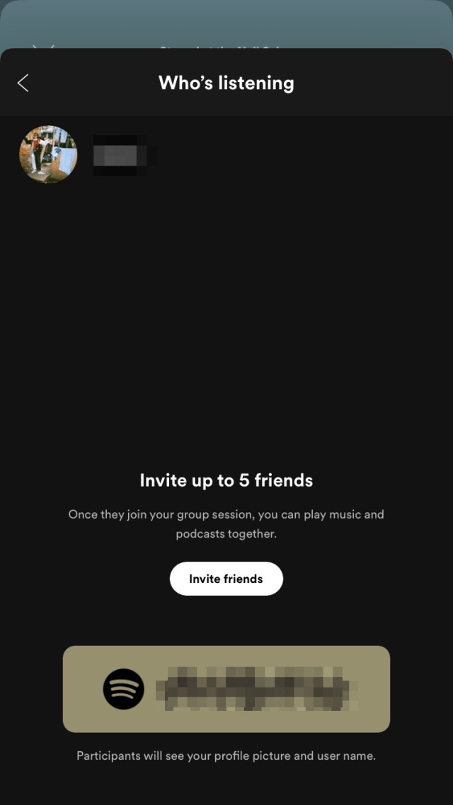 """Select """"Invite friends"""" to message your friends the link to the group session or have friends scan the QR code to join."""