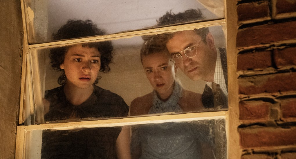 """Dory (Alia Shawkat), Portia (Meredith Hagner), and Drew (John Reynolds) end up doing bad even when they try to do good in """"Search Party."""""""