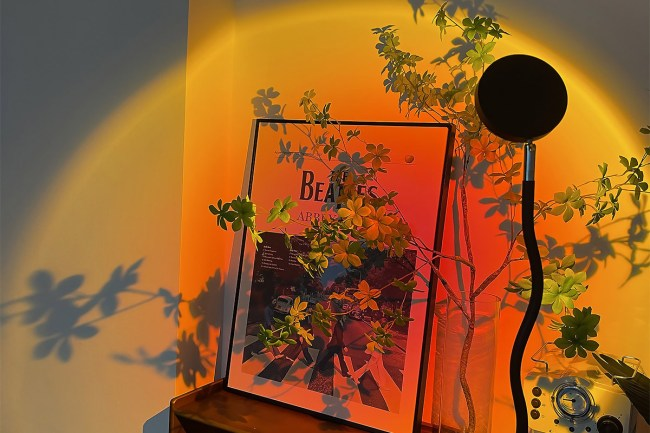 Project colorful designs onto your walls.