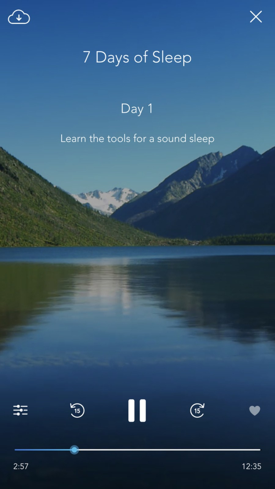 Calm lets you enjoy a wide range of meditation tutorials, mixing in the sounds of nature to add ambiance.