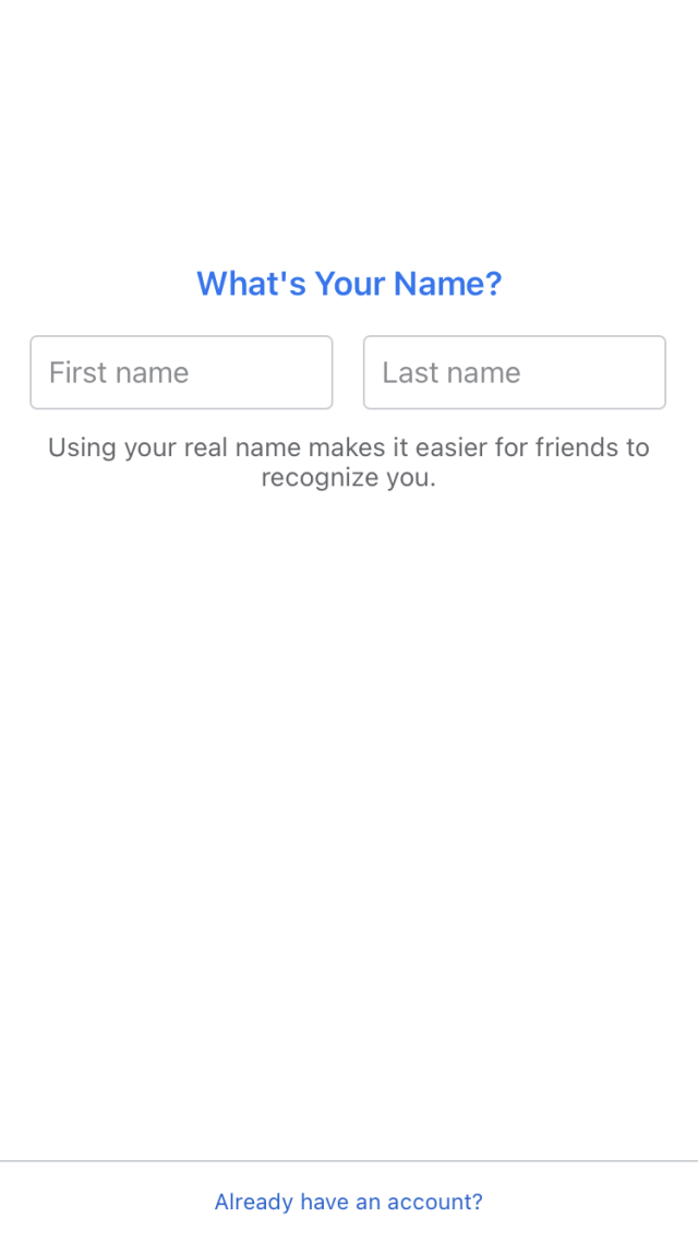 Enter your first and last name.