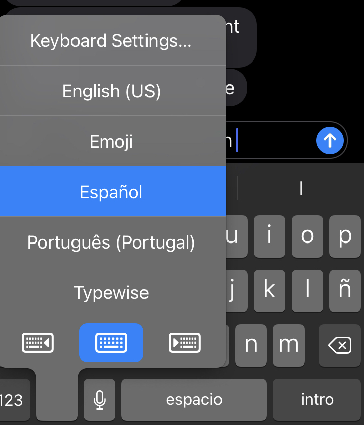 Switching between languages on an iPhone is a pain.