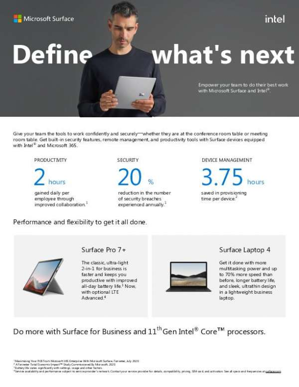 Surface and Intel®: Define what's next