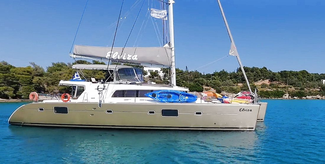 ELVIRA - Crewed Catamaran for Charter in Greece - HELLAS YACHTING