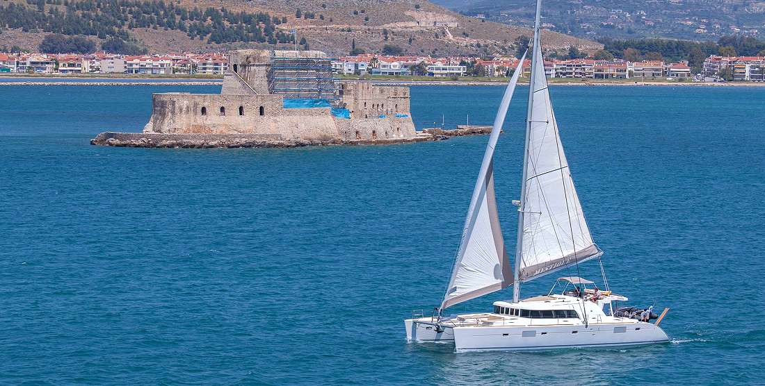 MYSTIQUE Crewed Catamaran Charter in Greece - HELLAS YACHTING