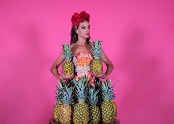 Pink Nat with Pineapples Β©Drew Cox