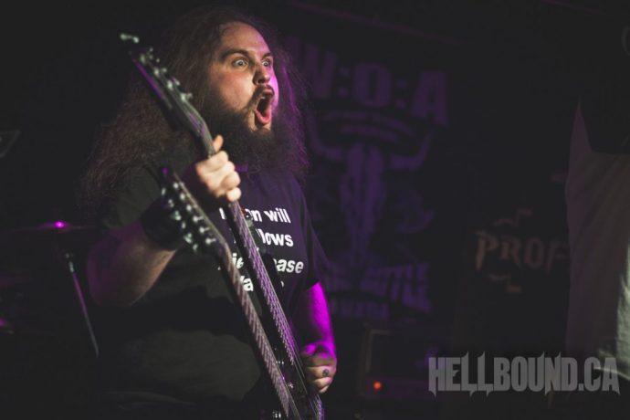 Profaner performing at Wacken Metal Battle Canada 2016, Hamilton round. Photo by Adam Wills.