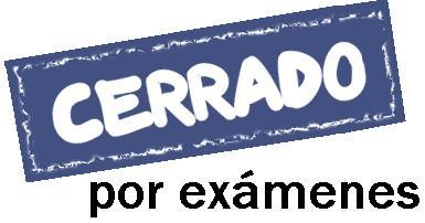 Cerrado por exámenes