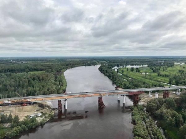 Строительство моста через реку Тобол