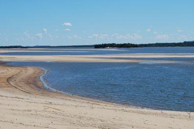Sanddunes in the river Uruguay