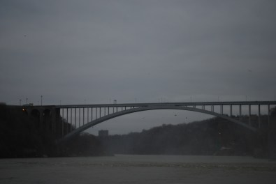 Rainbow Bridge with Canado to the right and the US to the left