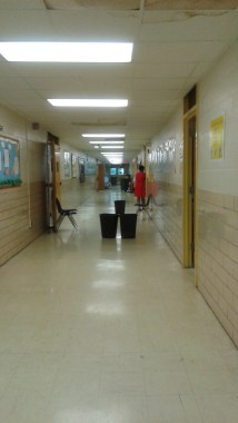 May 13, 2016-during the school day, active hallway.