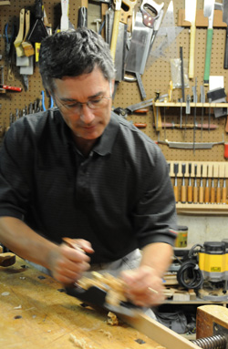 Dave with a hand plane