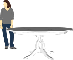 Sketchup model of table
