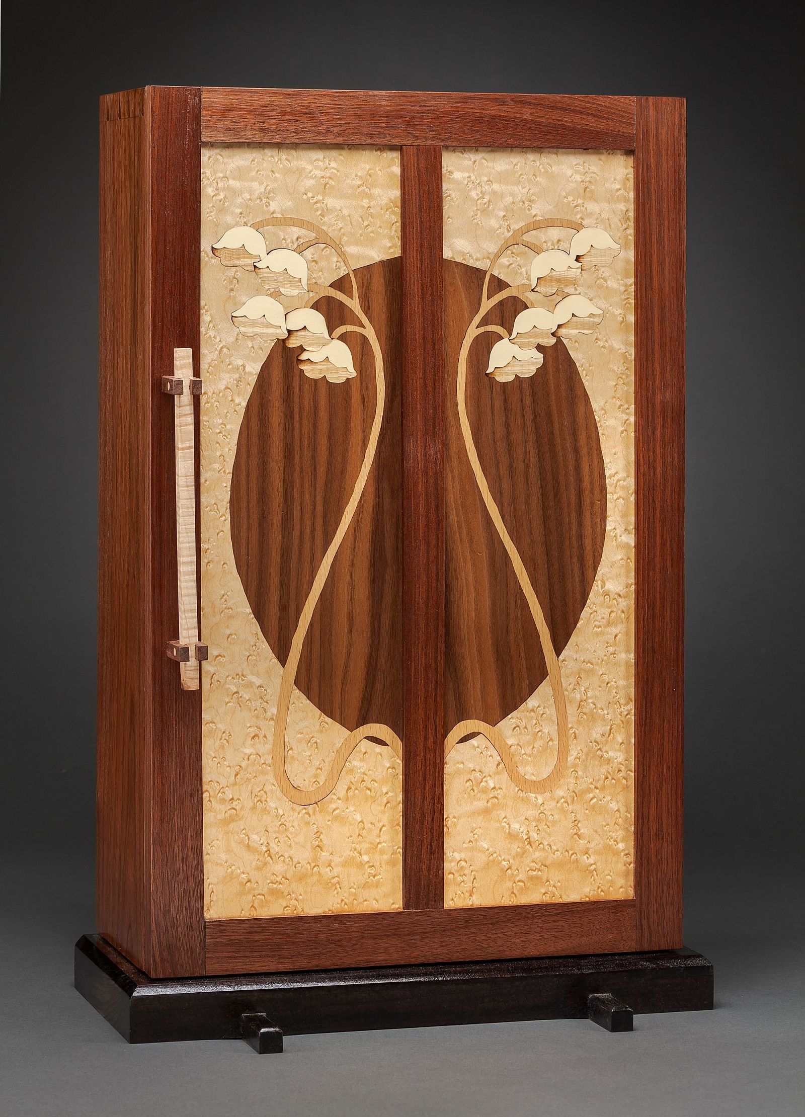 Lily of the Valley Jewelry Cabinet   Heller & Heller Furniture   Photo by Robert Batey