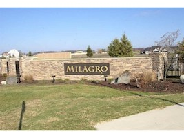 A picture of the entrance sign for Milagro Communities