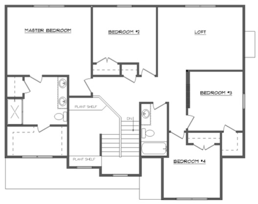 Allen Second Floor Layout - Heller Homes Allen Floor Plan