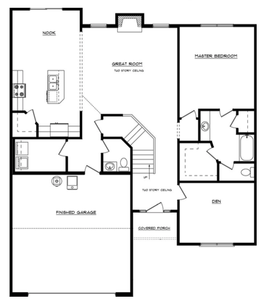 Leslie Floor Layout - Heller Homes Leslie First Floor Plan