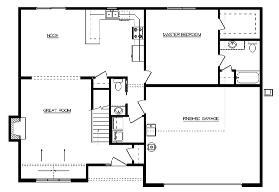 Riley Floor Layout - Heller Homes Riley First Floor Plan