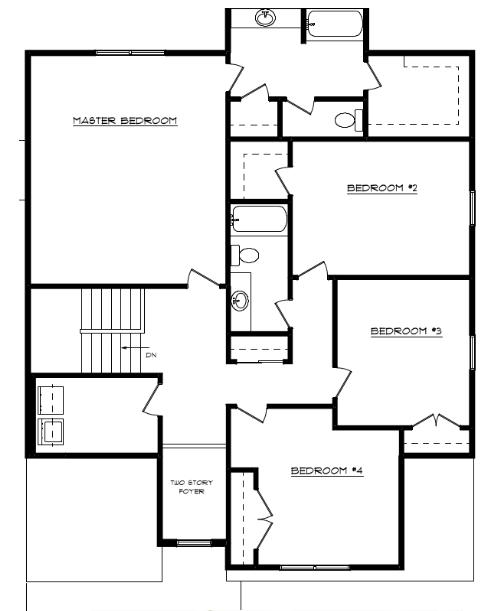 Tyson Floor Layout - Heller Homes Tyson Second Floor Plan