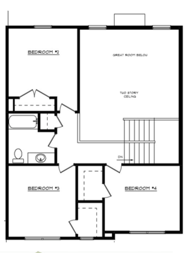 William Floor Layout - Heller Homes William Second Floor Plan
