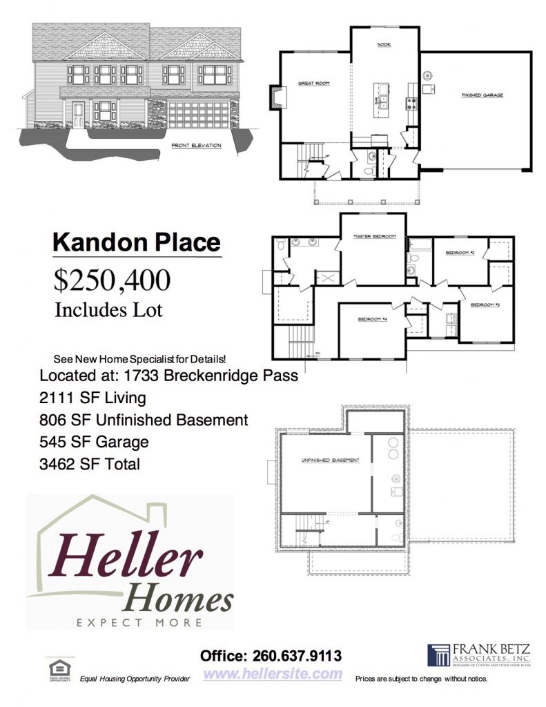 151 Quail Creek Handout - Heller Homes Kandon Place Floor Plan available home 151 Quail Creek Handout